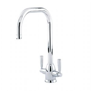 4863 Perrin & Rowe Oberon Monobloc Sink Mixer Tap U Spout with Lever Handles